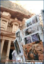 Kamel-Postkarten, Petra (Jordanien).