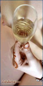 Champagner, stilvoll.