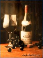 Wein-Werbung.