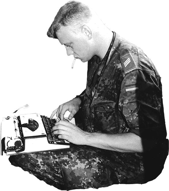 Olaf Kellerhoff mechanische Schreibmaschine